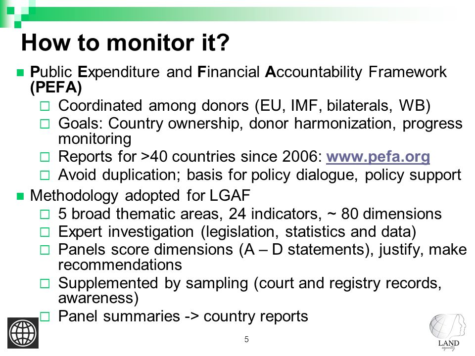 5 How to monitor it.