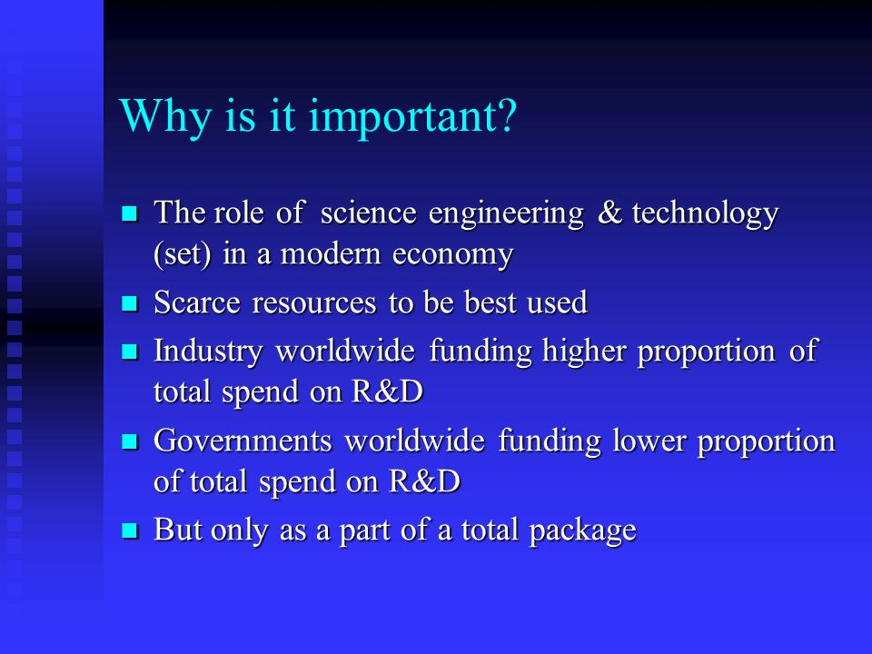 R&D Institute Restructuring Why is it important. Why is it important.