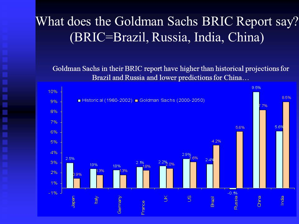 What does the Goldman Sachs BRIC Report say.