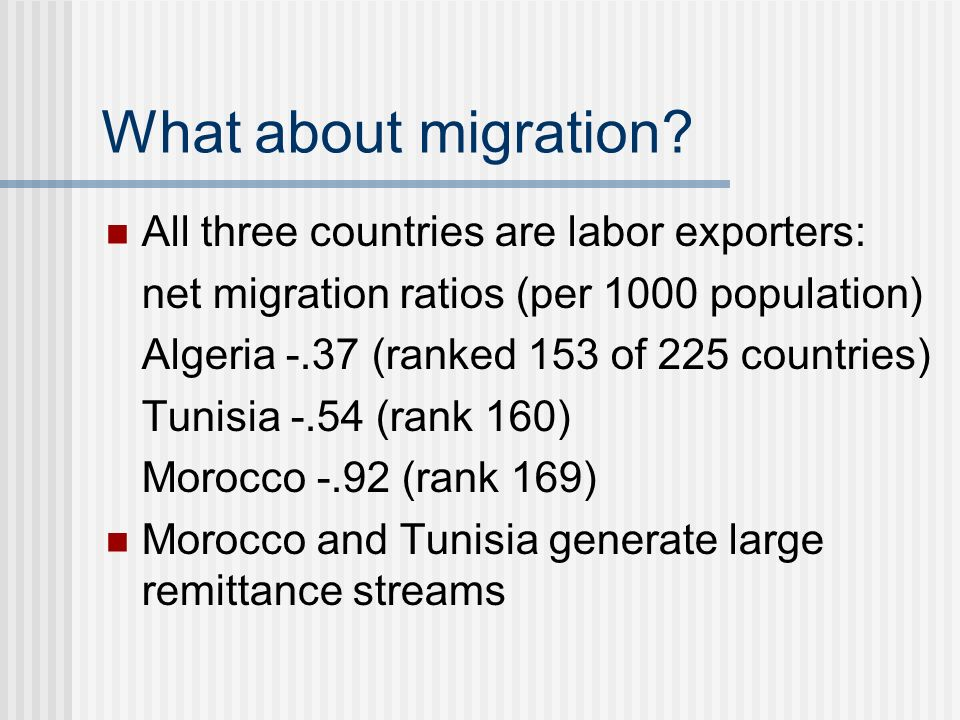 What about migration.
