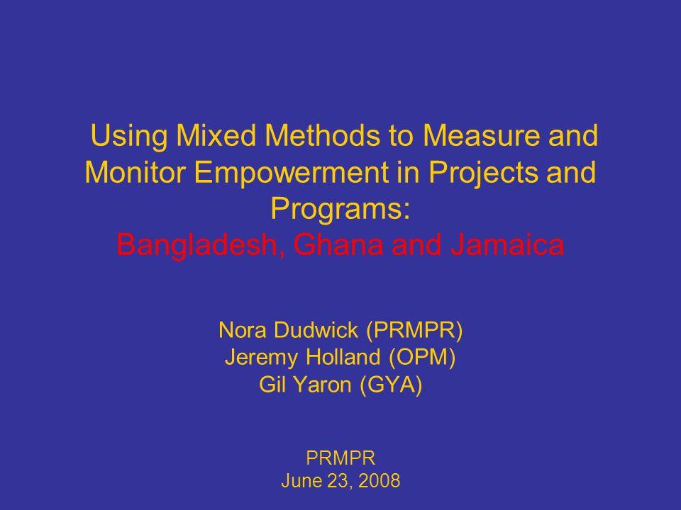 32 JAMAICA: Community-Based Policy Monitoring