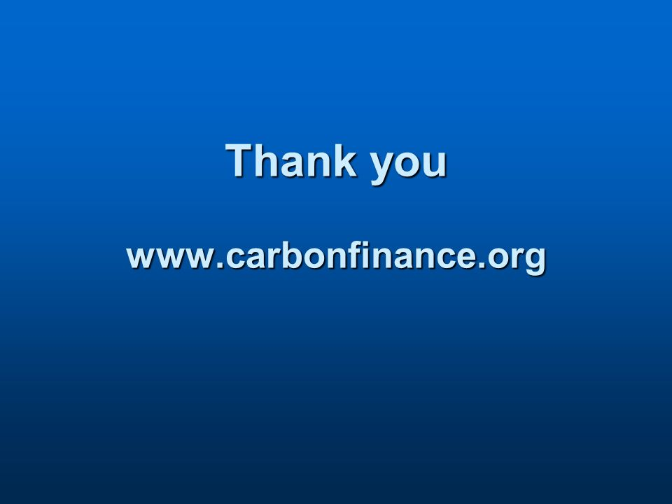 Thank you www.carbonfinance.org