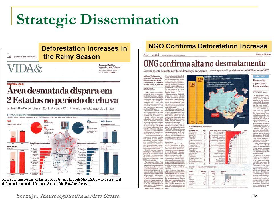 Strategic Dissemination Souza Jr., Tenure registration in Mato Grosso. 15 Photo: ICV Deforestation Increases in the Rainy Season NGO Confirms Deforeta