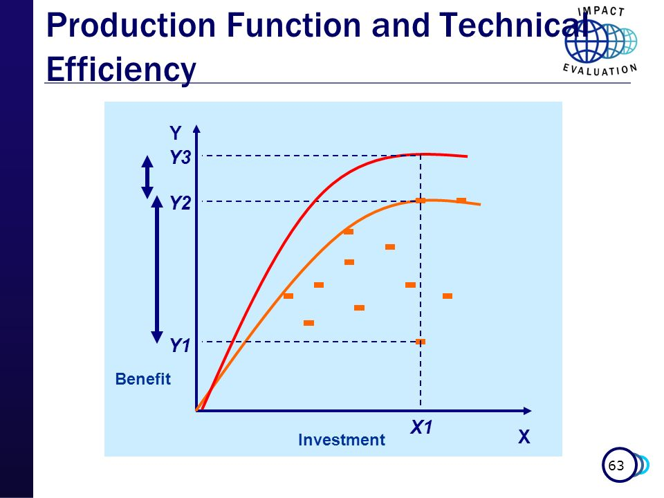 63 X Y X1 Y1 Y2 Y3 Benefit Investment Production Function and Technical Efficiency