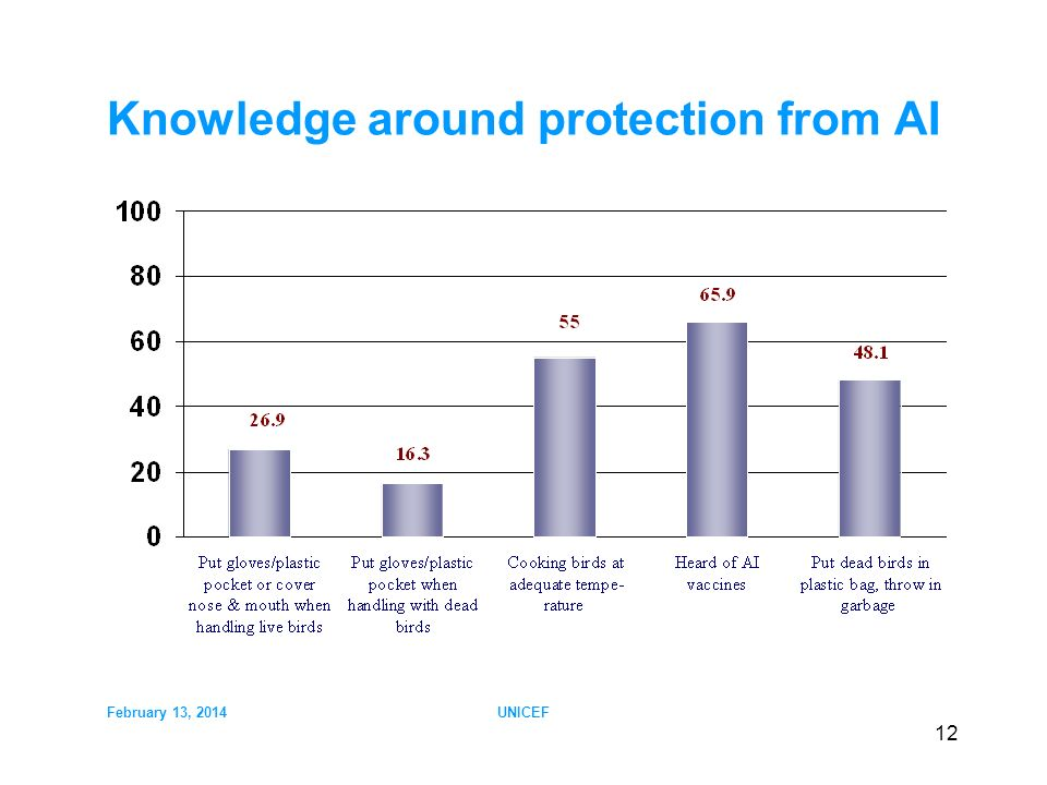 February 13, 2014UNICEF 12 Knowledge around protection from AI