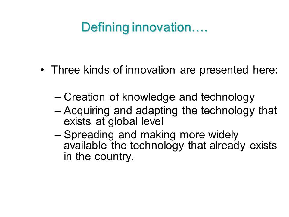 Defining innovation….