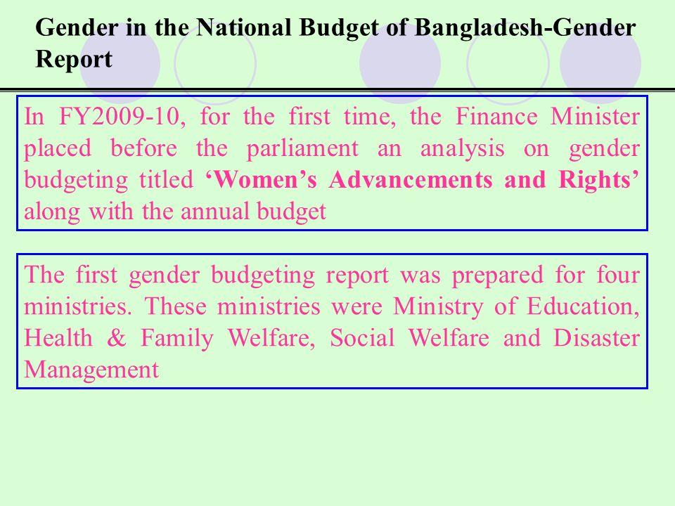 Gender in the National Budget of Bangladesh-Gender Report 2.