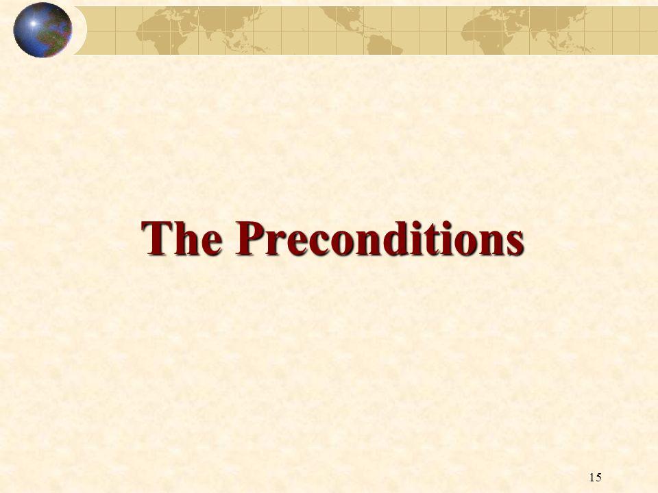 15 The Preconditions