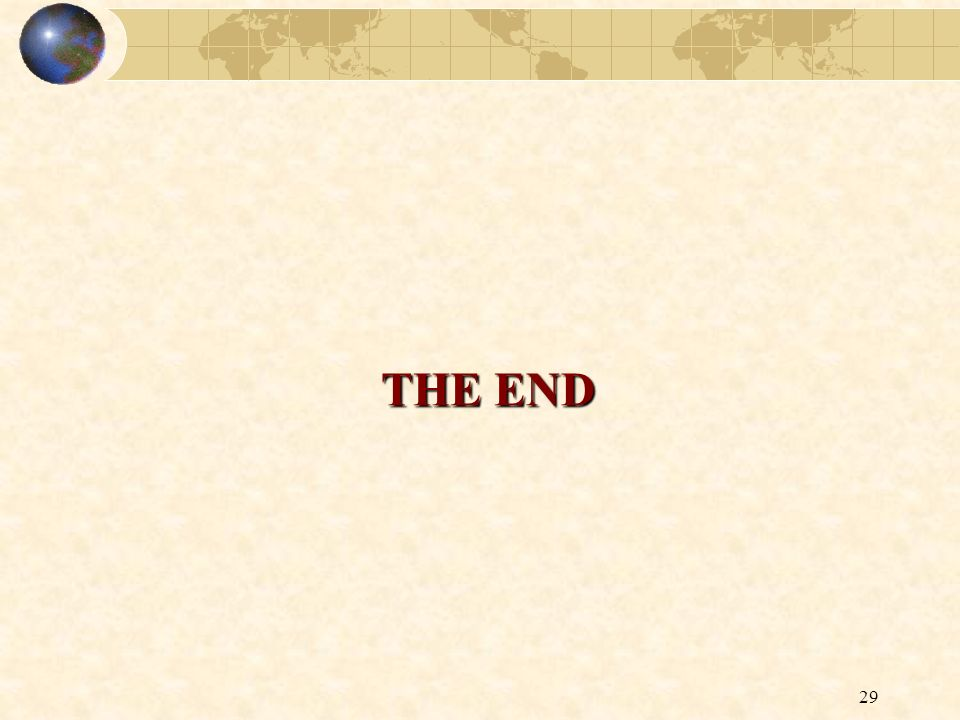 29 THE END