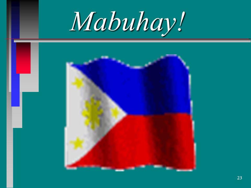 23 Mabuhay!