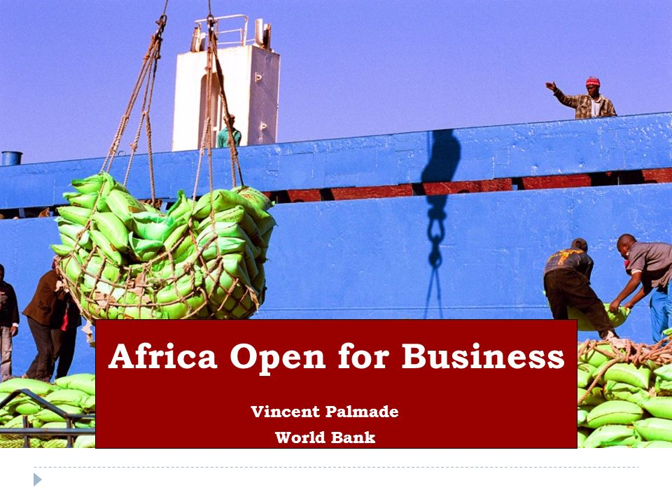 Vincent Palmade World Bank Africa Open for Business