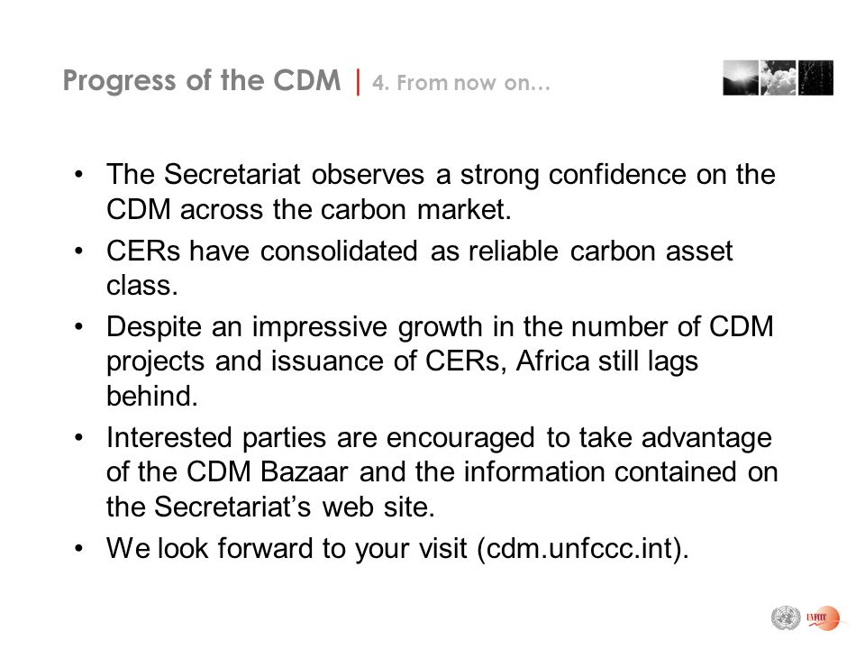 Progress of the CDM | 4.