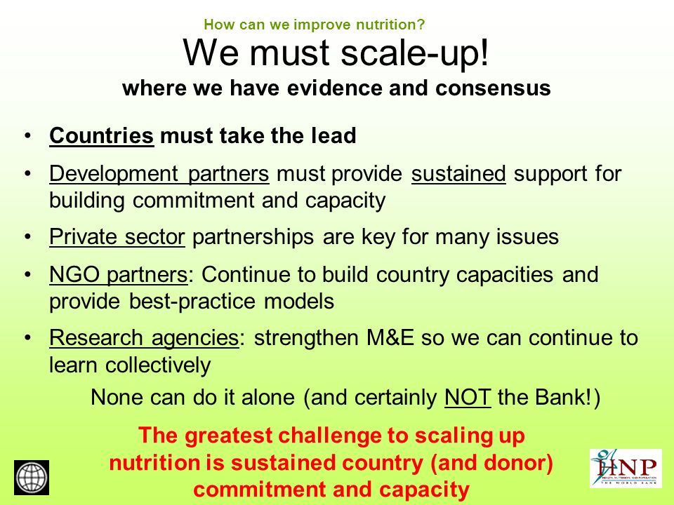 We must scale-up.