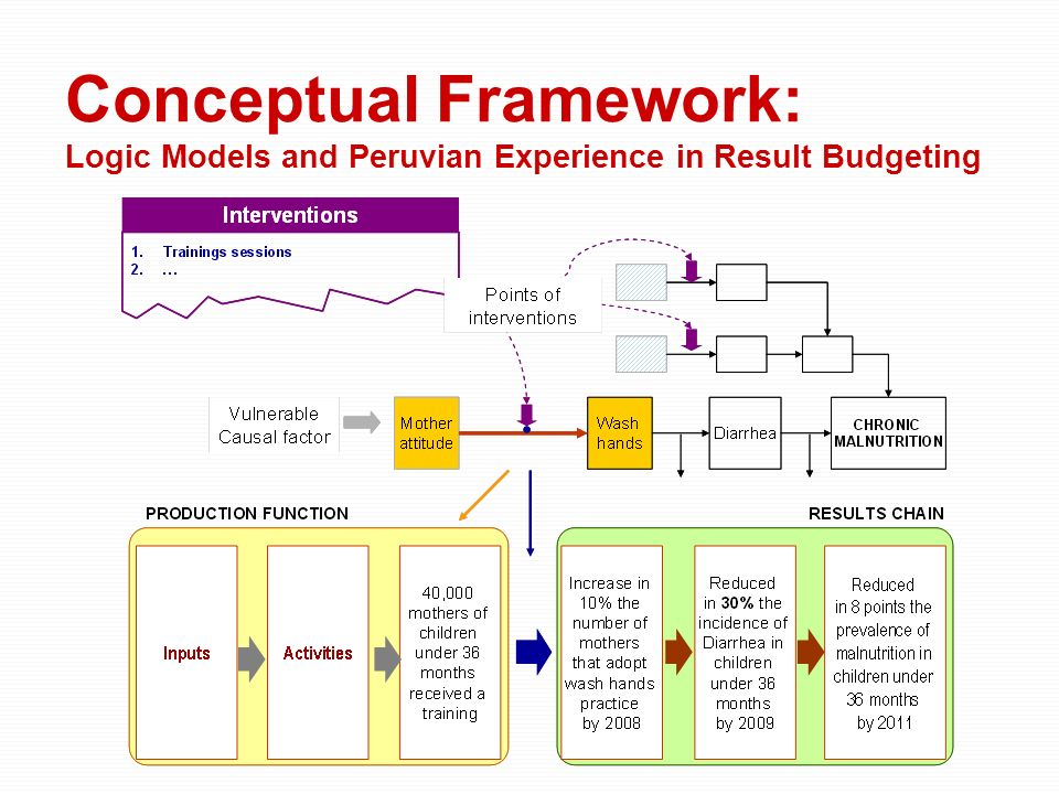 Conceptual Framework: Logic Models and Peruvian Experience in Result Budgeting
