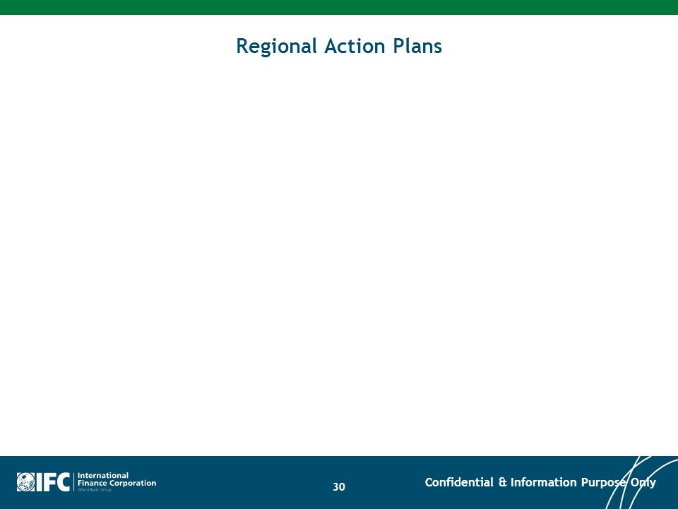 30 Regional Action Plans Confidential & Information Purpose Only