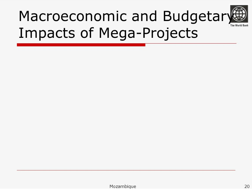 Macroeconomic and Budgetary Impacts of Mega-Projects Mozambique20
