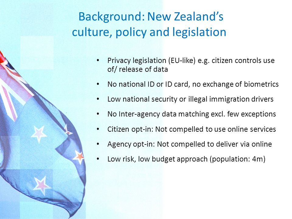 In NZ, Identity Management is for citizen service, not national security