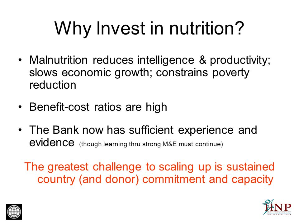Why Invest in nutrition.