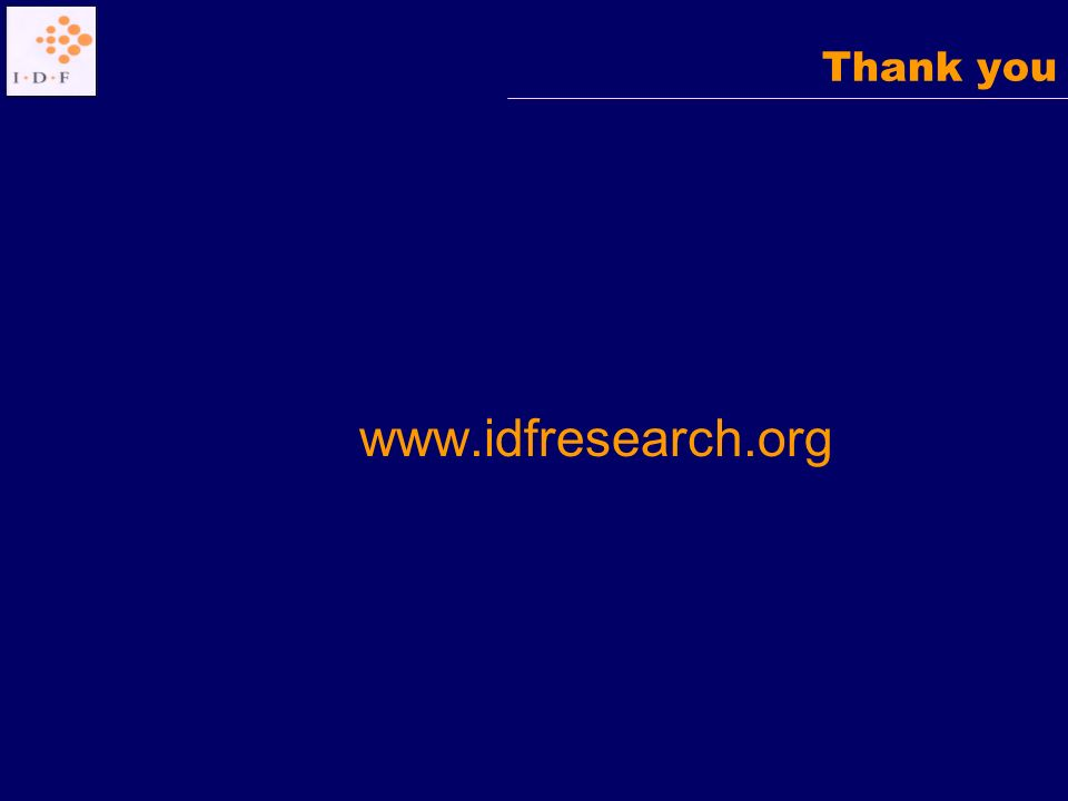 Thank you www.idfresearch.org