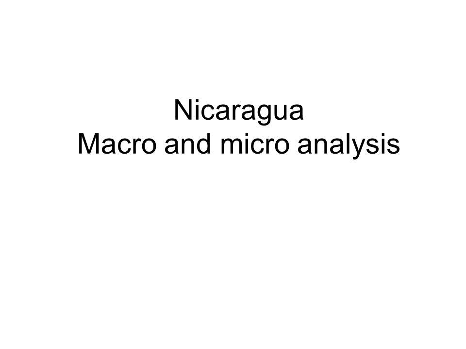 Nicaragua Macro and micro analysis