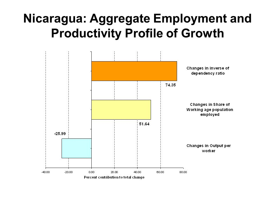 Nicaragua: Aggregate Employment and Productivity Profile of Growth