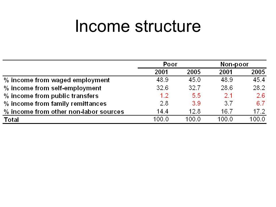 Income structure