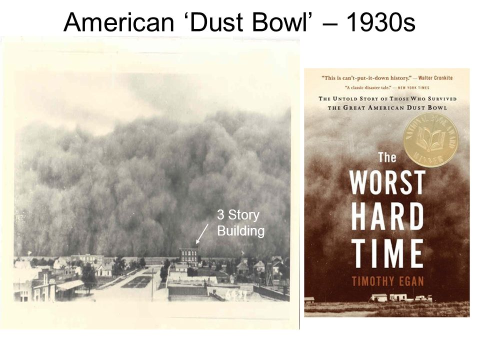 American Dust Bowl – 1930s 3 Story Building