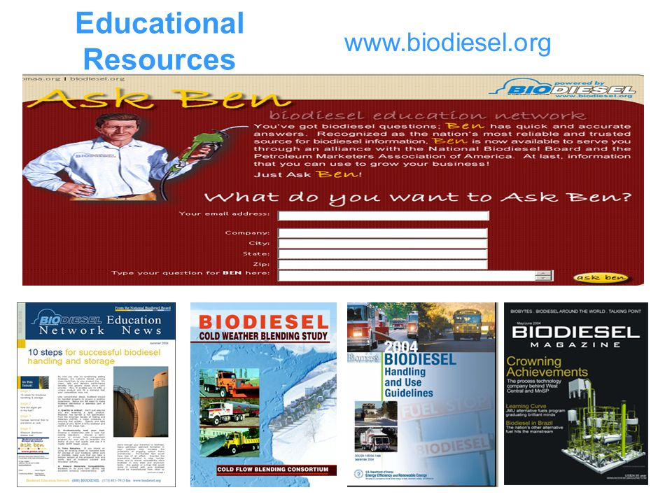 Educational Resources www.biodiesel.org