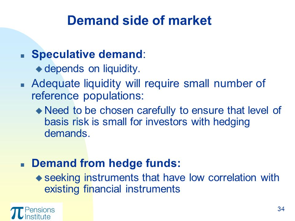34 n Speculative demand: u depends on liquidity.