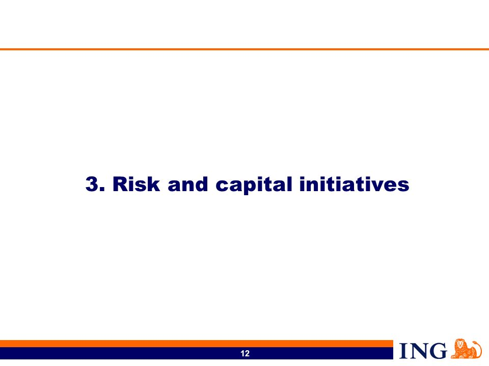 12 3. Risk and capital initiatives