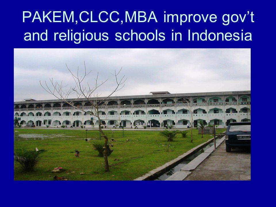 PAKEM,CLCC,MBA improve govt and religious schools in Indonesia