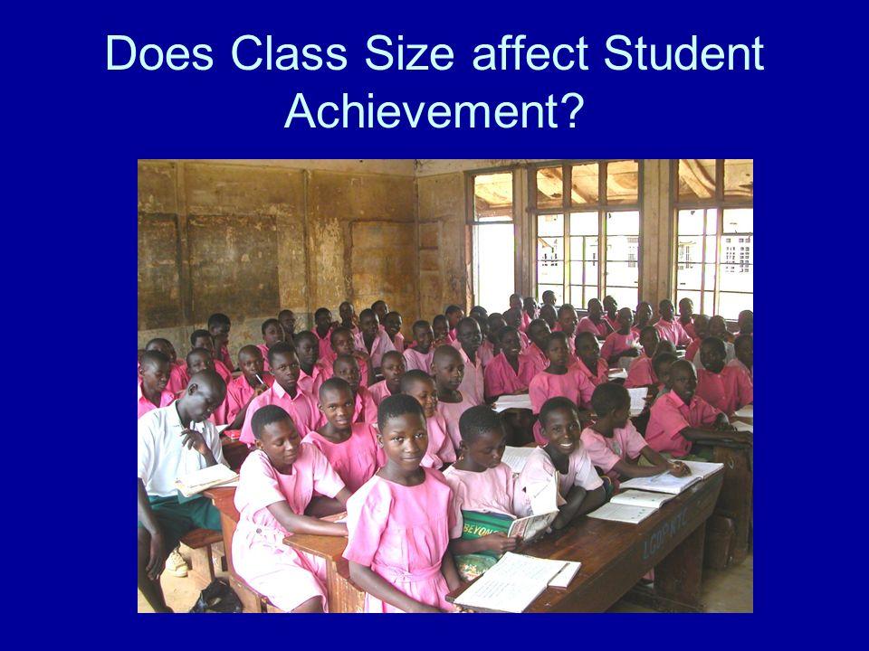 Does Class Size affect Student Achievement?
