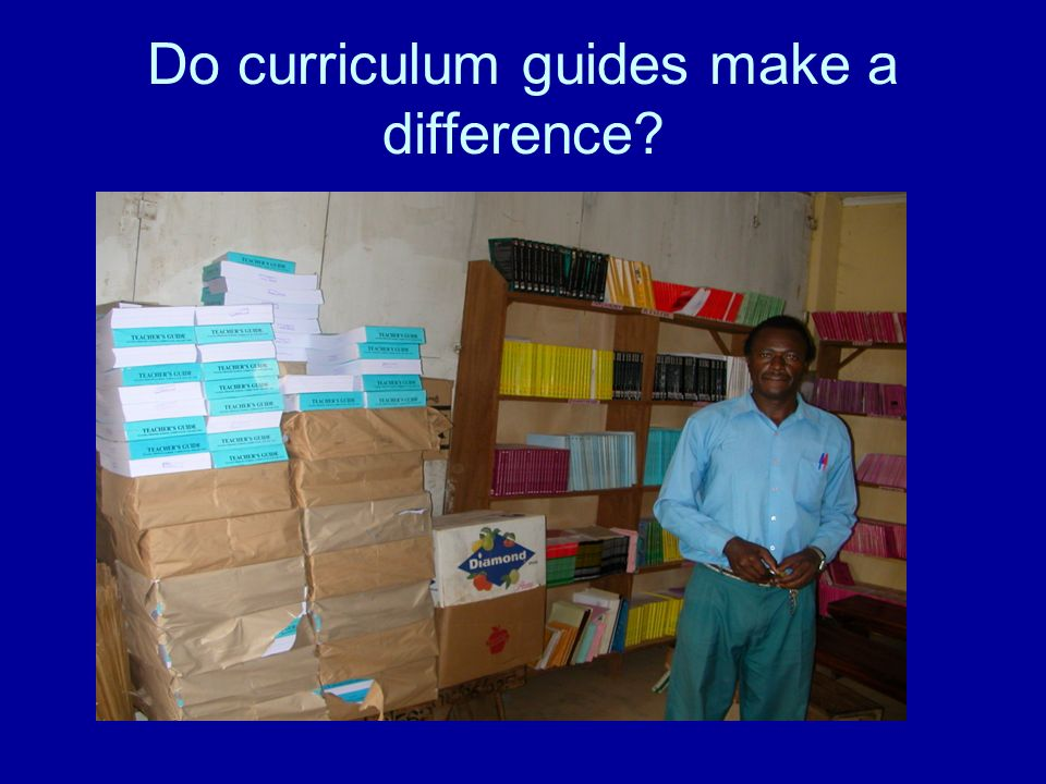Do curriculum guides make a difference?
