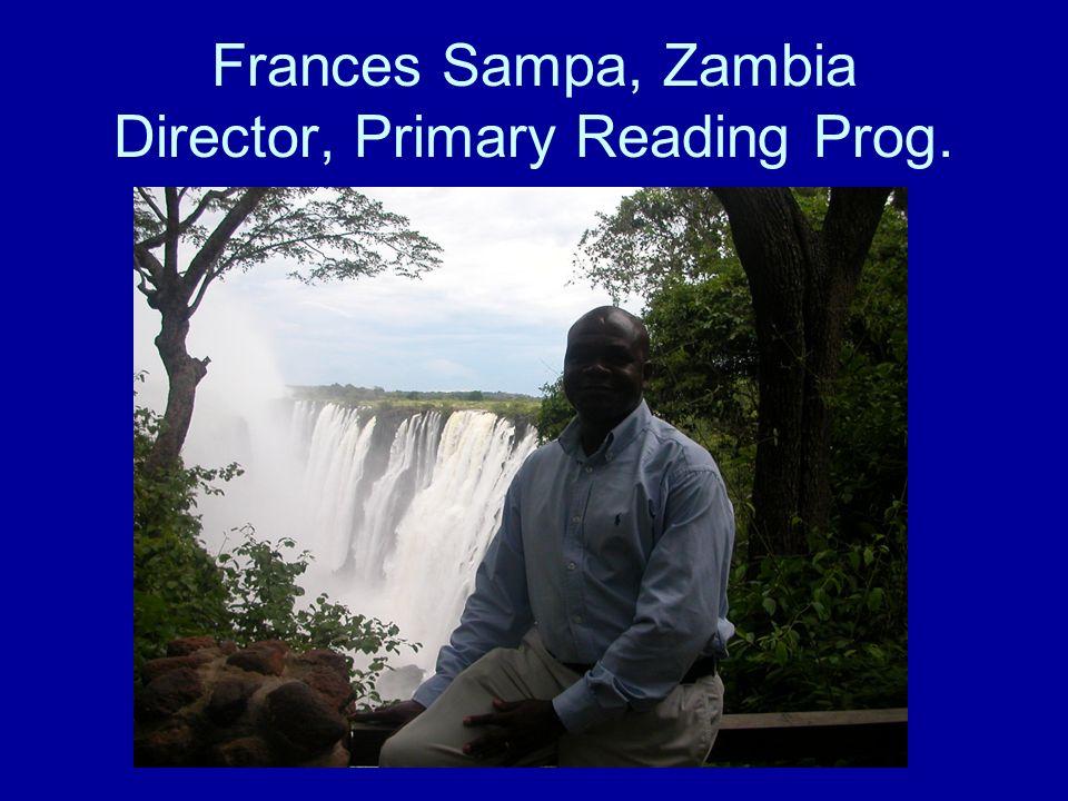 Frances Sampa, Zambia Director, Primary Reading Prog.