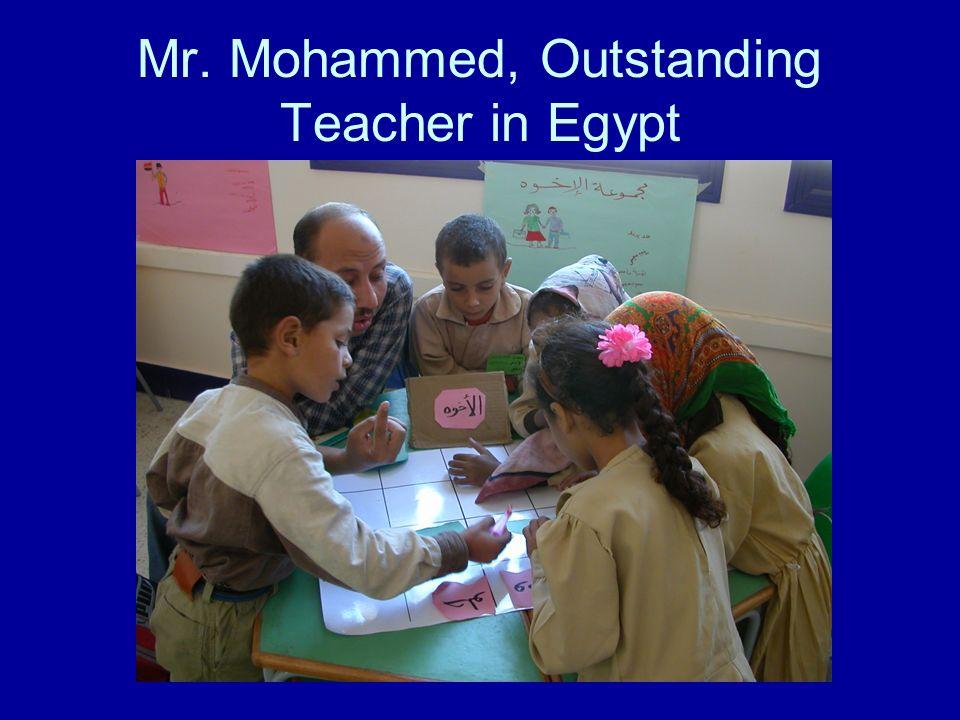 Mr. Mohammed, Outstanding Teacher in Egypt