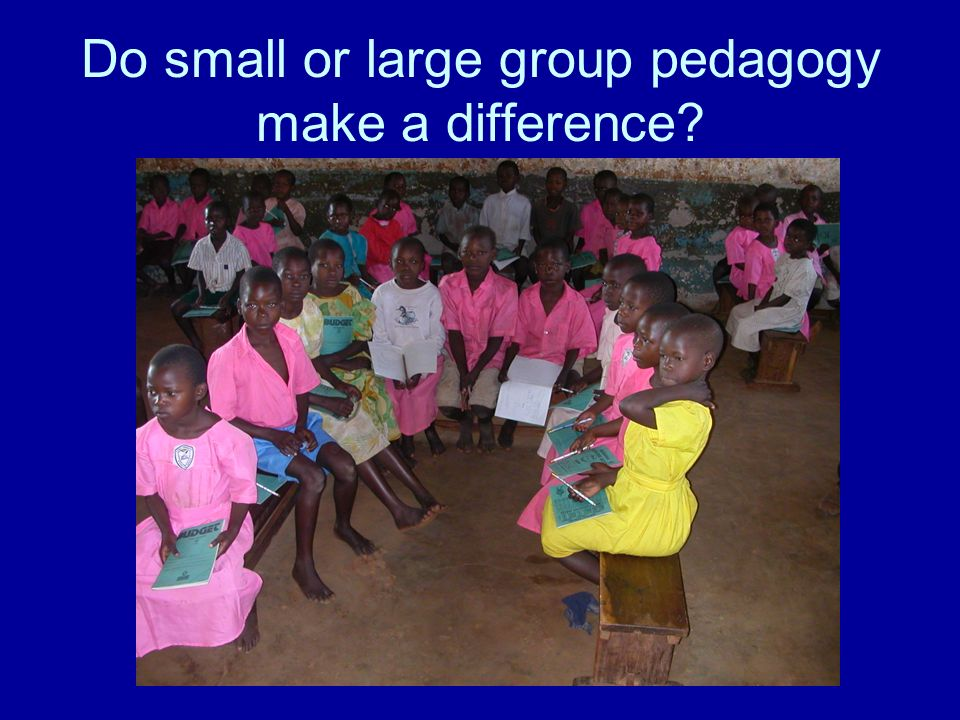 Do small or large group pedagogy make a difference?