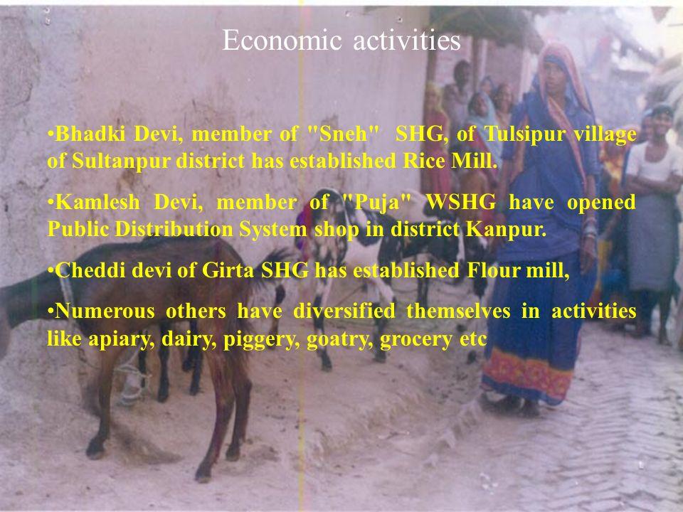 Economic activities Bhadki Devi, member of