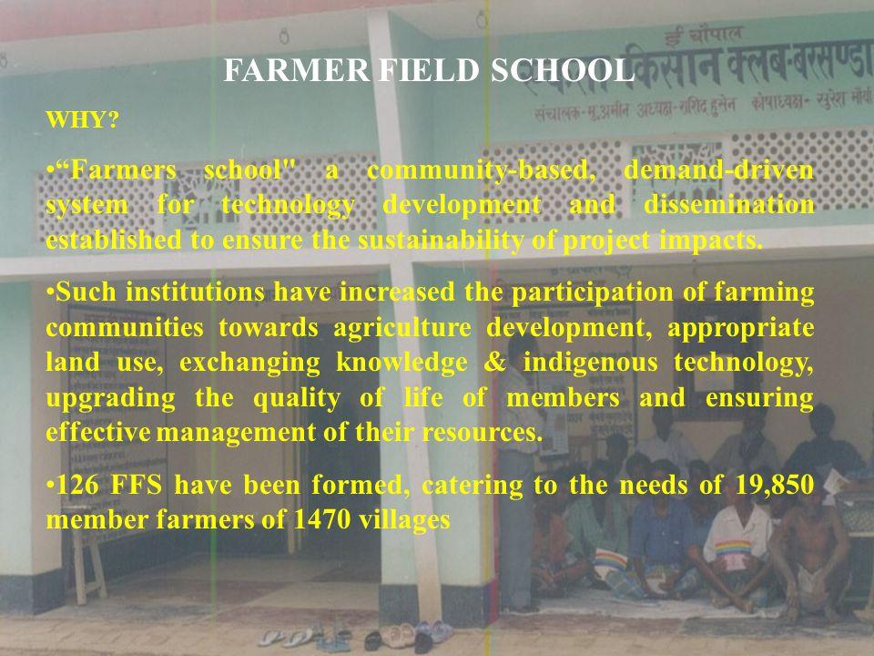 FARMER FIELD SCHOOL WHY? Farmers school