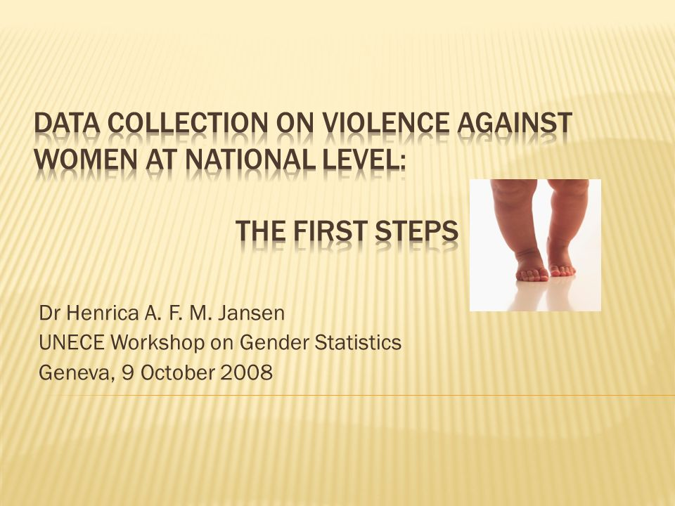 Dr Henrica A. F. M. Jansen UNECE Workshop on Gender Statistics Geneva, 9 October 2008