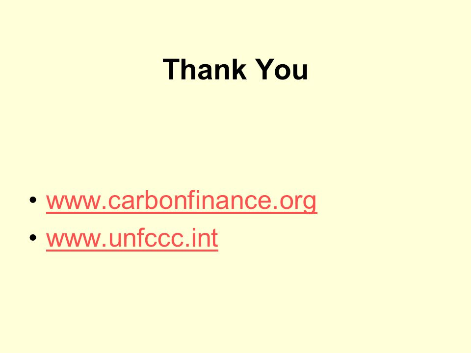 Thank You www.carbonfinance.org www.unfccc.int