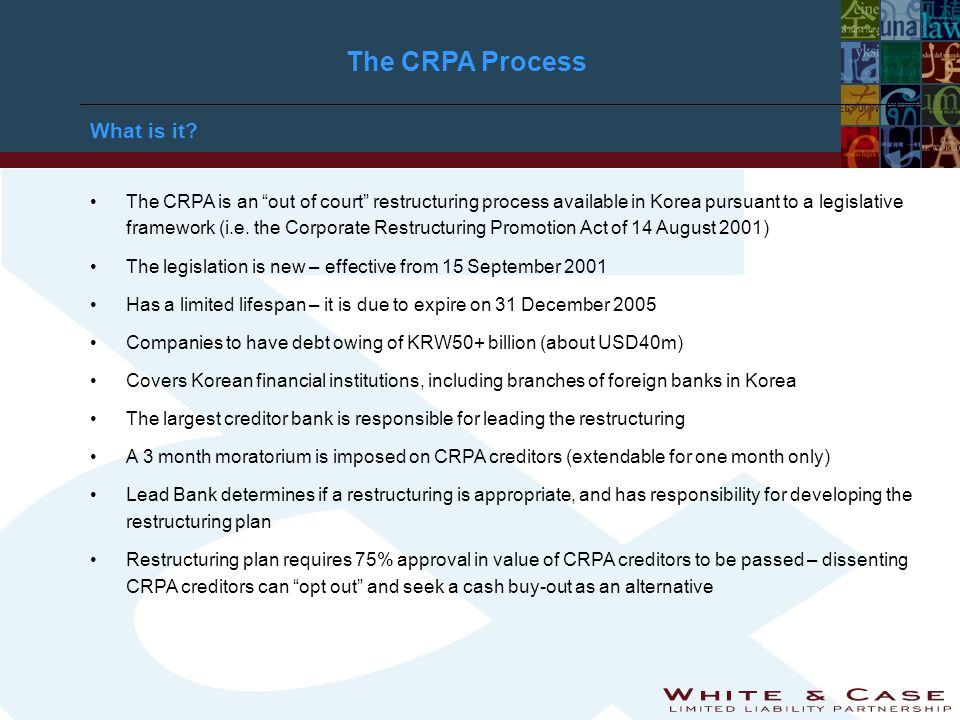 The CRPA Process What is it.