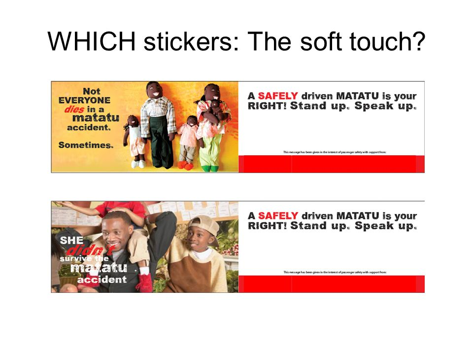 WHICH stickers: The soft touch