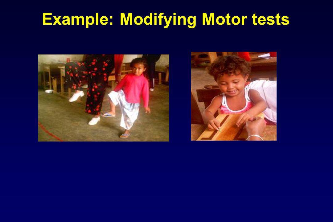 Example: Modifying Motor tests