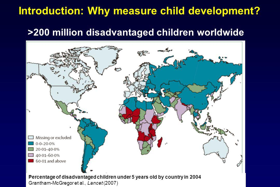 Introduction: Why measure child development.
