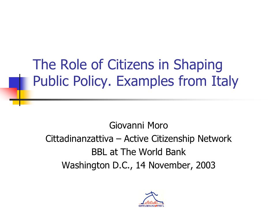 The Role of Citizens in Shaping Public Policy.