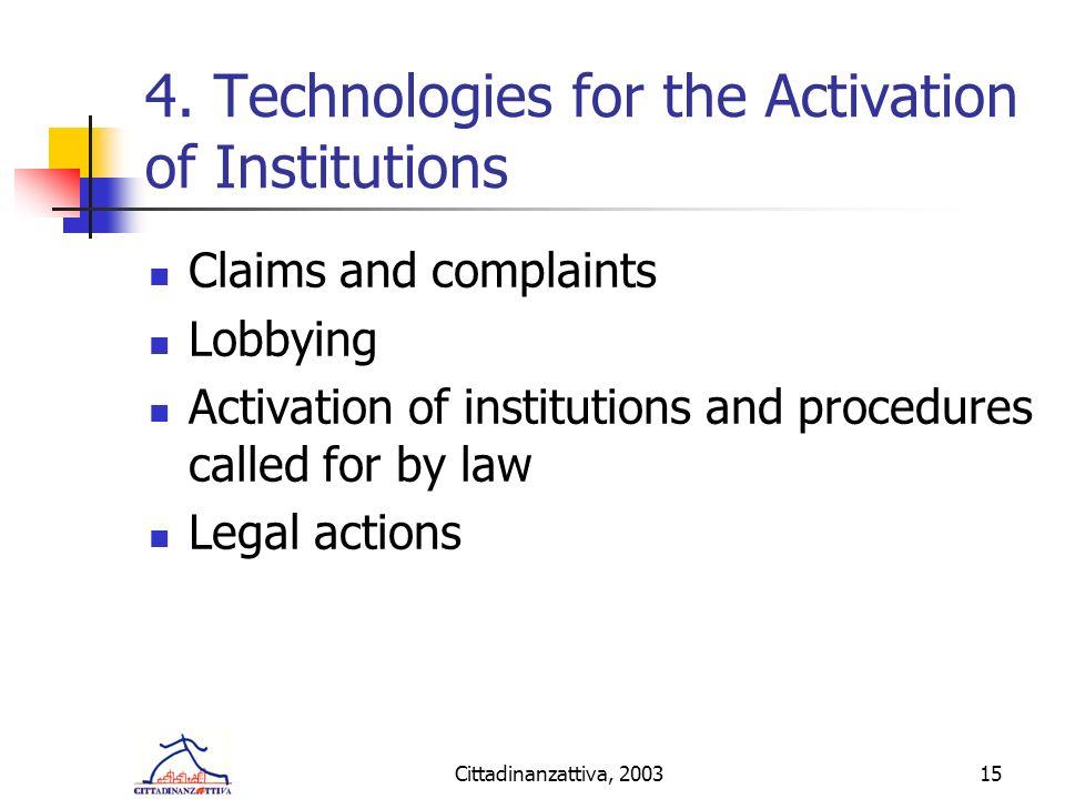 Cittadinanzattiva, 200315 4.