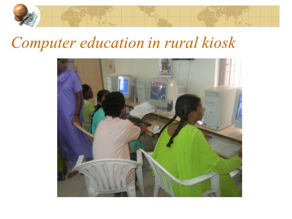 Computer education in rural kiosk