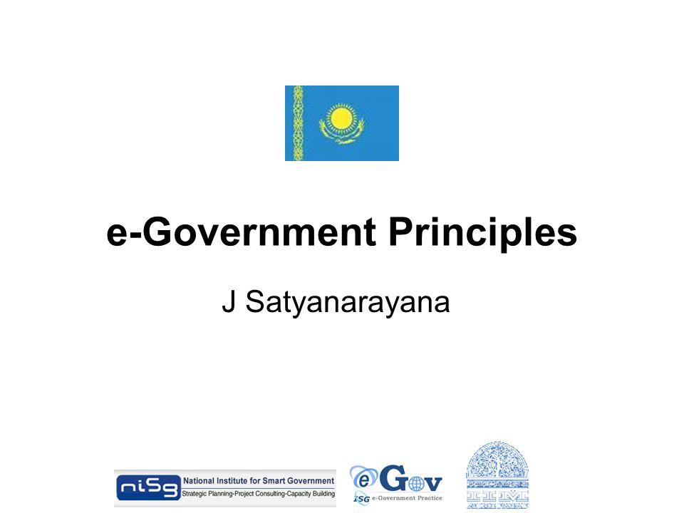 e-Government Principles J Satyanarayana
