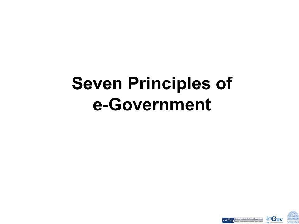 Seven Principles of e-Government