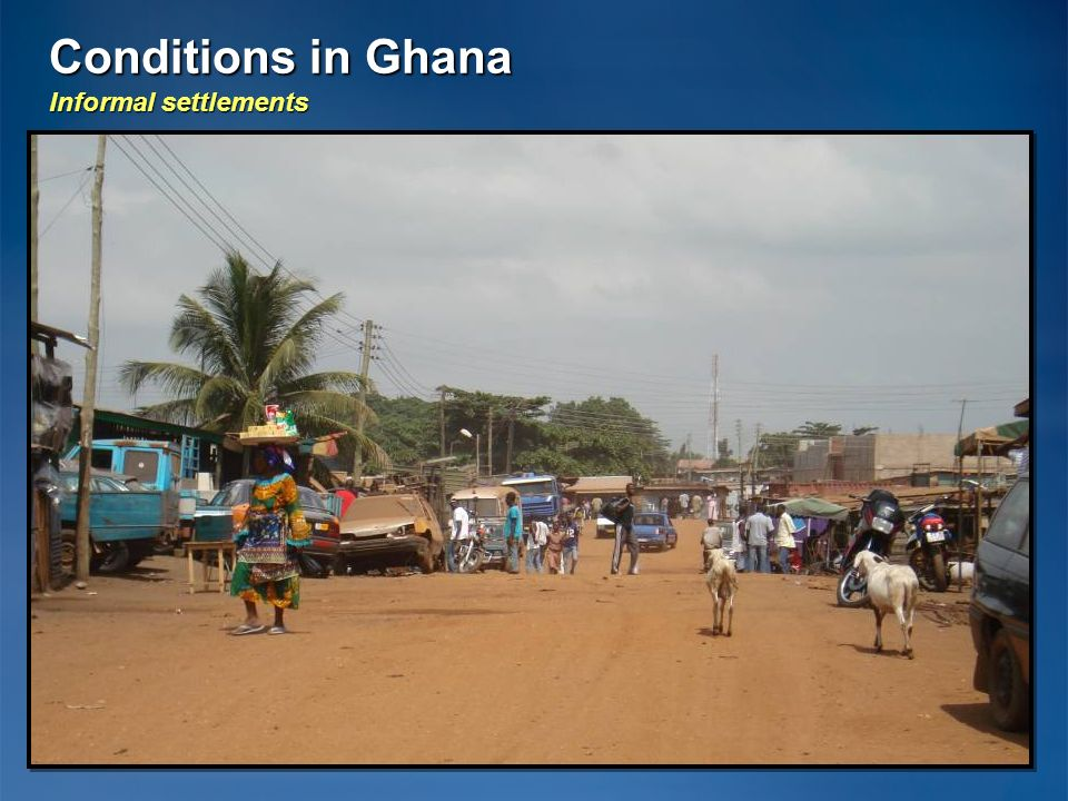 Conditions in Ghana Informal settlements